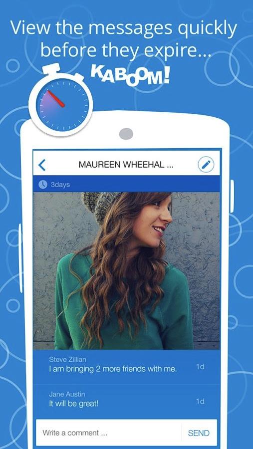 Kaboom, un chat con borrado automático de mensajes y fotos